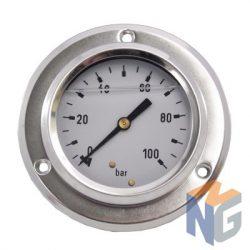 """Nyomásmérő óra 1/4"""" BSP 100 BAR hátsó kivezetés"""