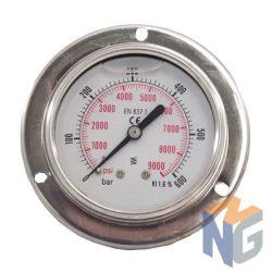 """Nyomásmérő óra 1/4"""" BSP 600 BAR hátsó kivezetés"""