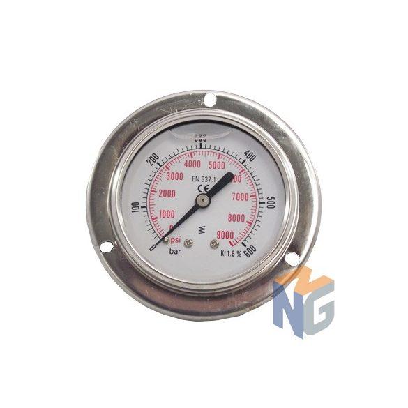 """Pressure gauge 1/4"""" BSP 600 BAR rear outlet"""