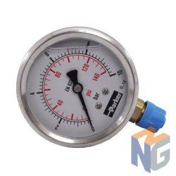 Parker nyomásmérő óra 63mm 10bar alsó csatlakozás