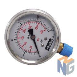 Parker nyomásmérő óra 63mm 25bar alsó kivezetés