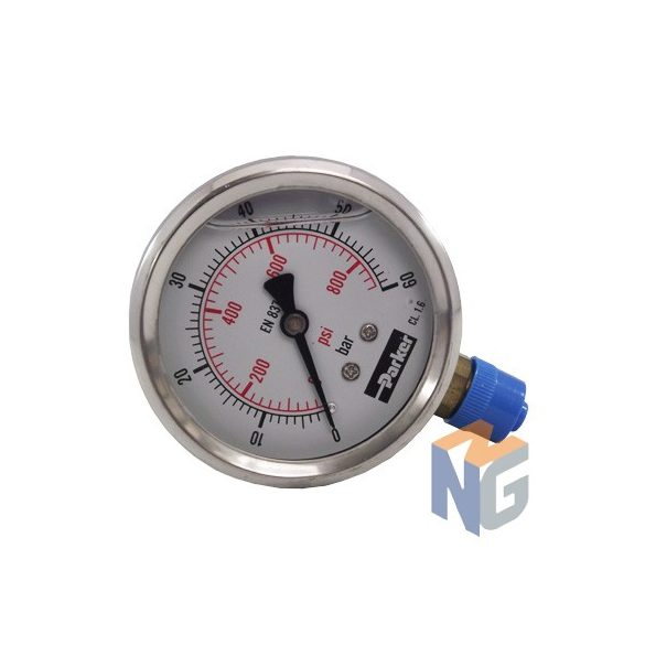 Parker pressure gauge 63mm 60bar bottom outlet