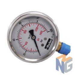 Parker nyomásmérő óra 63mm 100bar alsó kivezetés