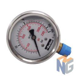 Parker Nyomásmérő óra 63mm 160bar alsó kivezetés